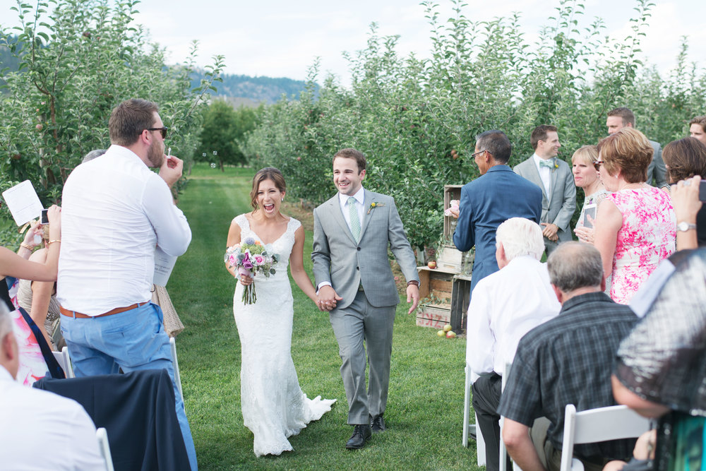 Real Wedding: Lindsay + Lucas, Oyama, BC