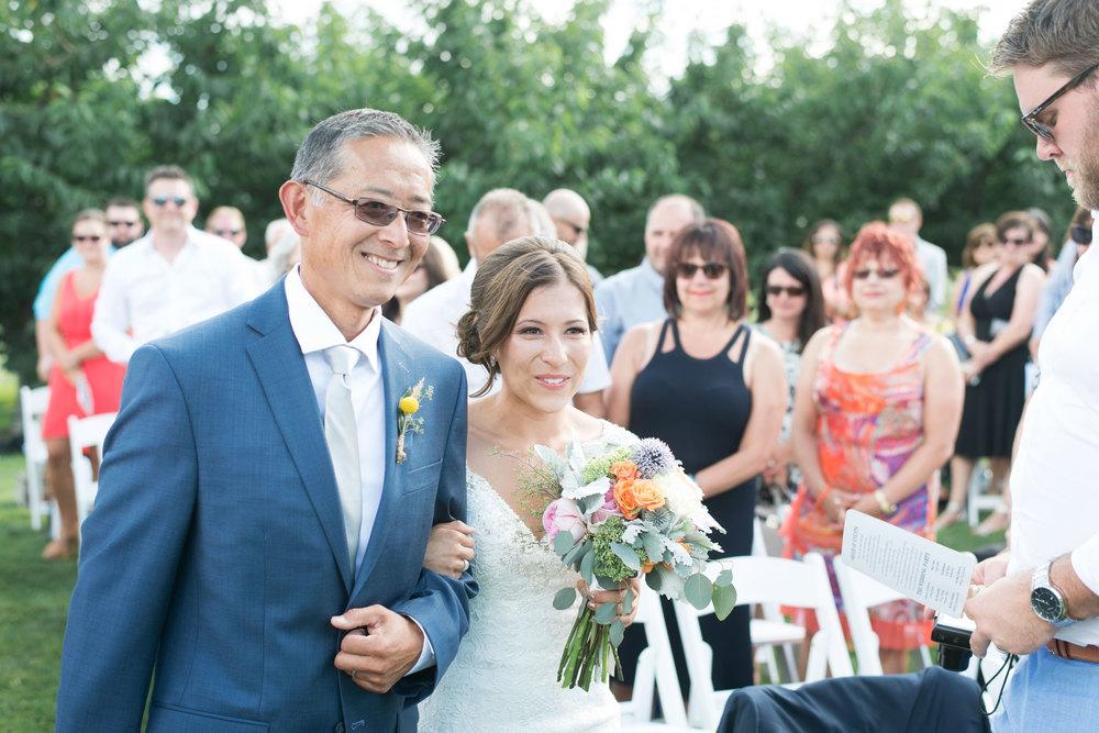 Real Wedding: Lindsay + Lucas, Oyama, BC