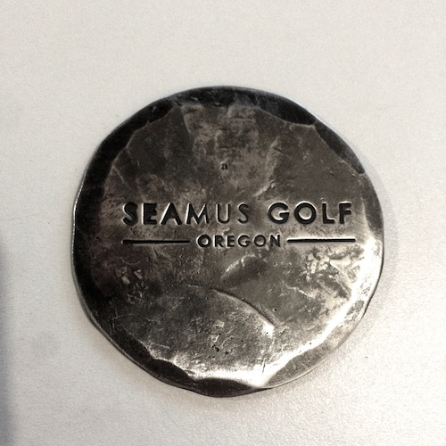 Send your pro to the Seamus Golf at #6083 and get a beautiful hand forged ball mark. Limited quantity!