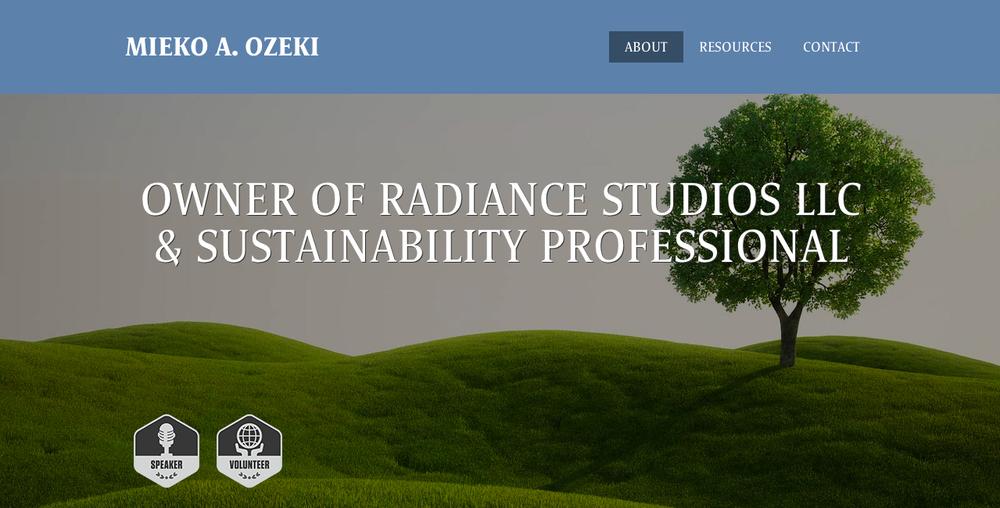 Workfolio website template for  www.miekoozeki.com