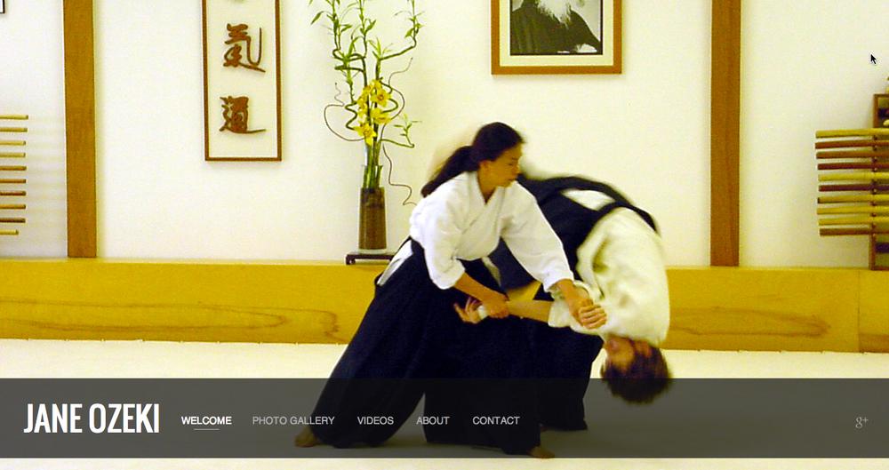 """SquareSpace """" Front Row """" template for  www.janeozeki.com"""