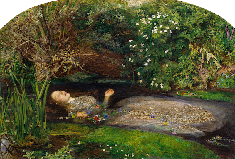 """Drowning Ophelia Kate Mactiernan reads from Roland Leachs', poem 'Drowning Ophelia' """"She left her window open for the boys to come to her only fourteen and her mother had caught her before"""" The Outdoor Classroom 03:15 (Sunday Morning)"""