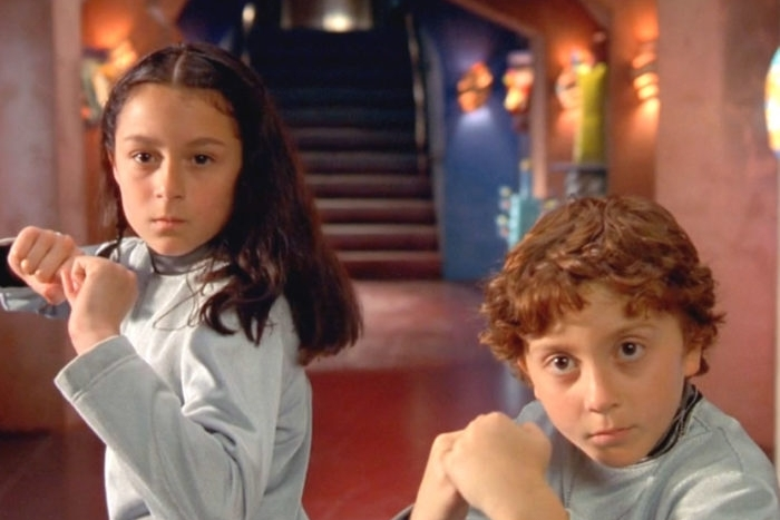 SPY KIDS [PG] [Kids] [FREE] 2001, DIR.  Robert Rodriguez Armed with a bag of high tech gadgets and out-of-this world transportation, Carmen and Juni will bravely jet through the air, dive under the seas and crisscross the globe in a series of thrilling adventures on a mission to stop Floop, save their parents...and maybe even the world. Sometimes the biggest heroes are the smallest ones. 12PM | scaffold cinema