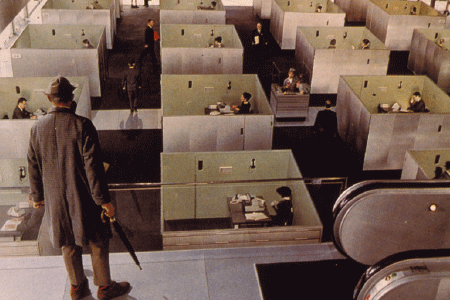 PLAYTIME   1967, Dir. Jacques Tati, French with english subtitles   Monsieur Hulot curiously wanders around a high-tech Paris, paralleling a trip with a group of American tourists. Meanwhile, a nightclub/restaurant prepares its opening night, but it's still under construction.   7:45pm | horse chestnut glade