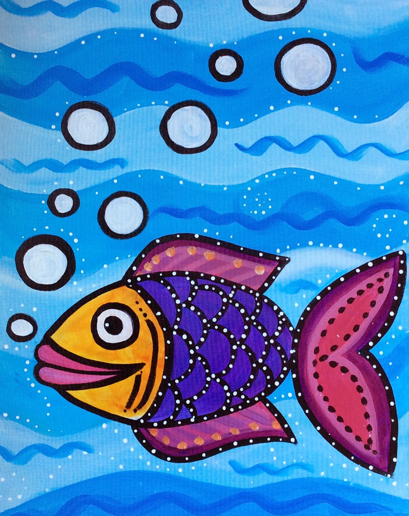 Fish paintings for kids images for Fish for toddlers