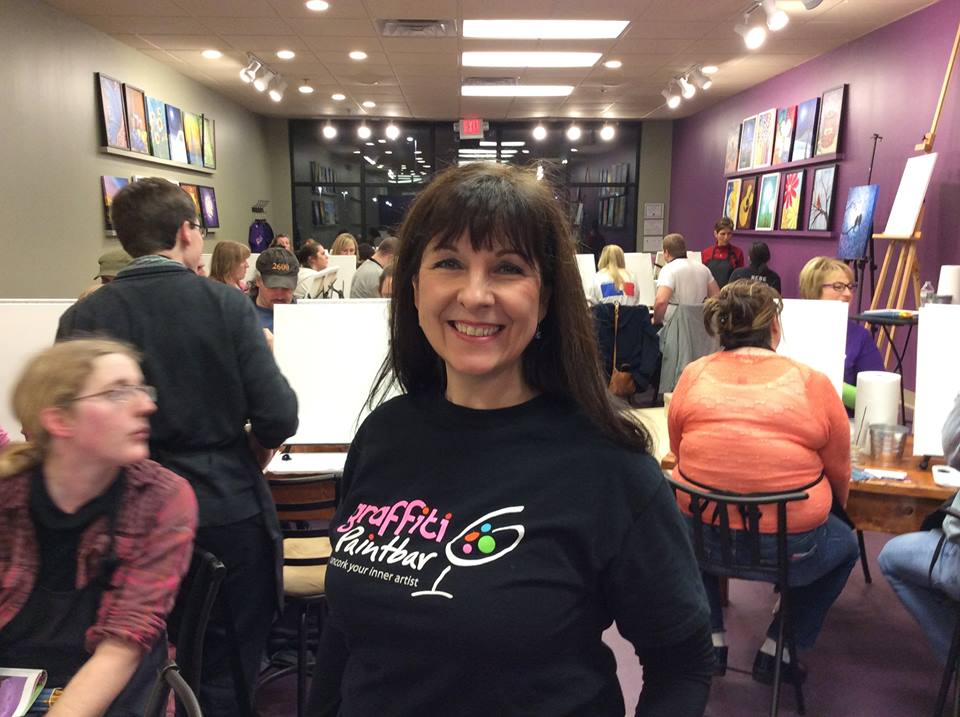Linda Lagana, Owner of Graffiti Paintbar