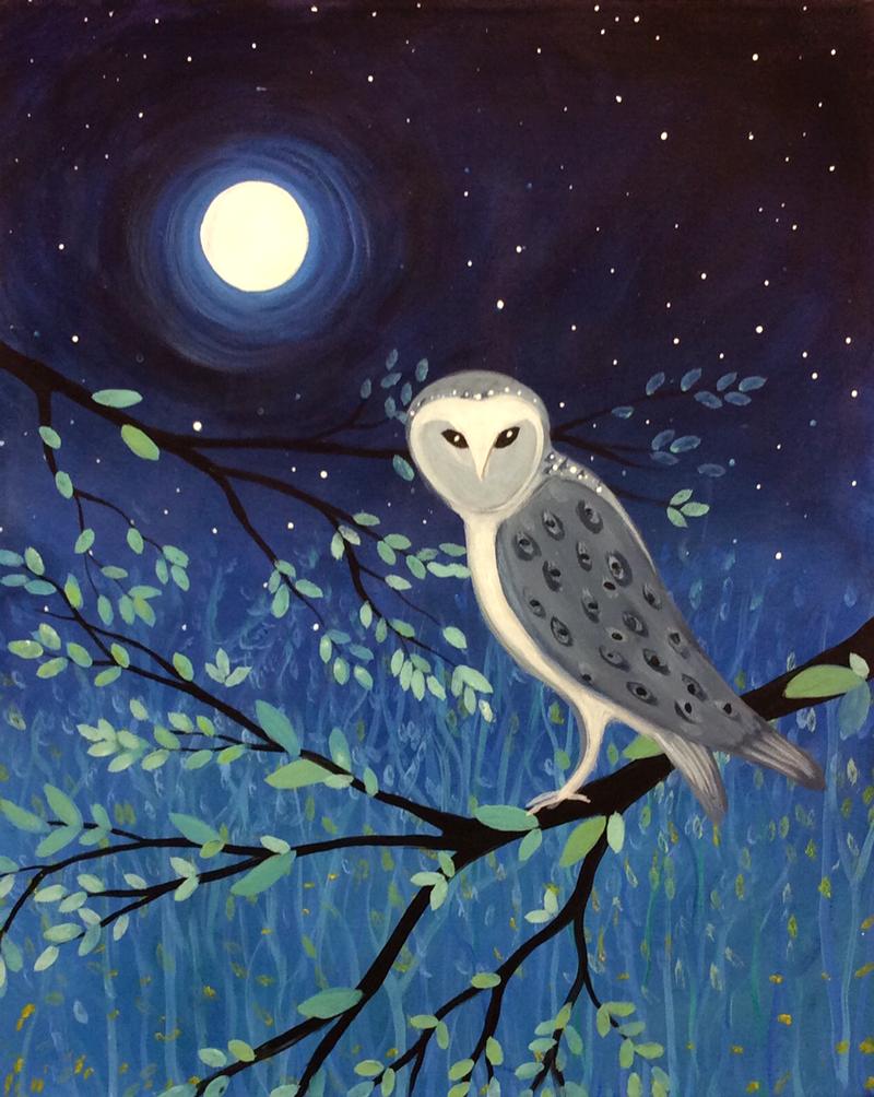 Owl & Moon