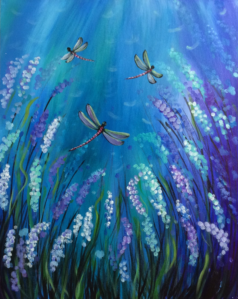Dragonflies & Lupines