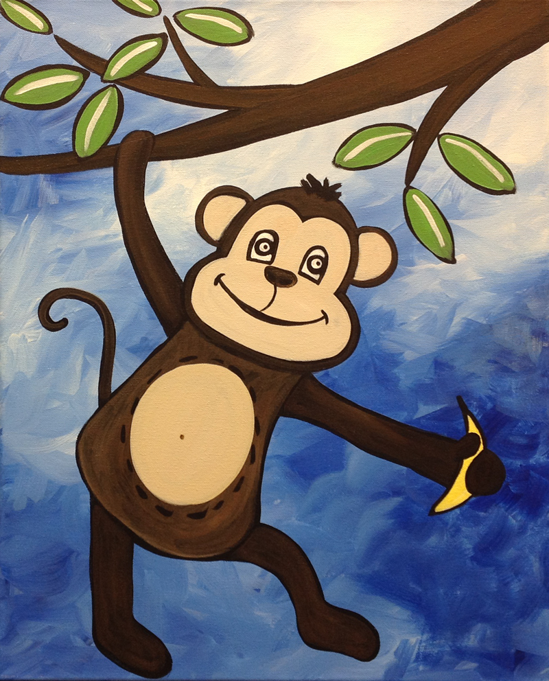monkey business - Picture Painting For Kids