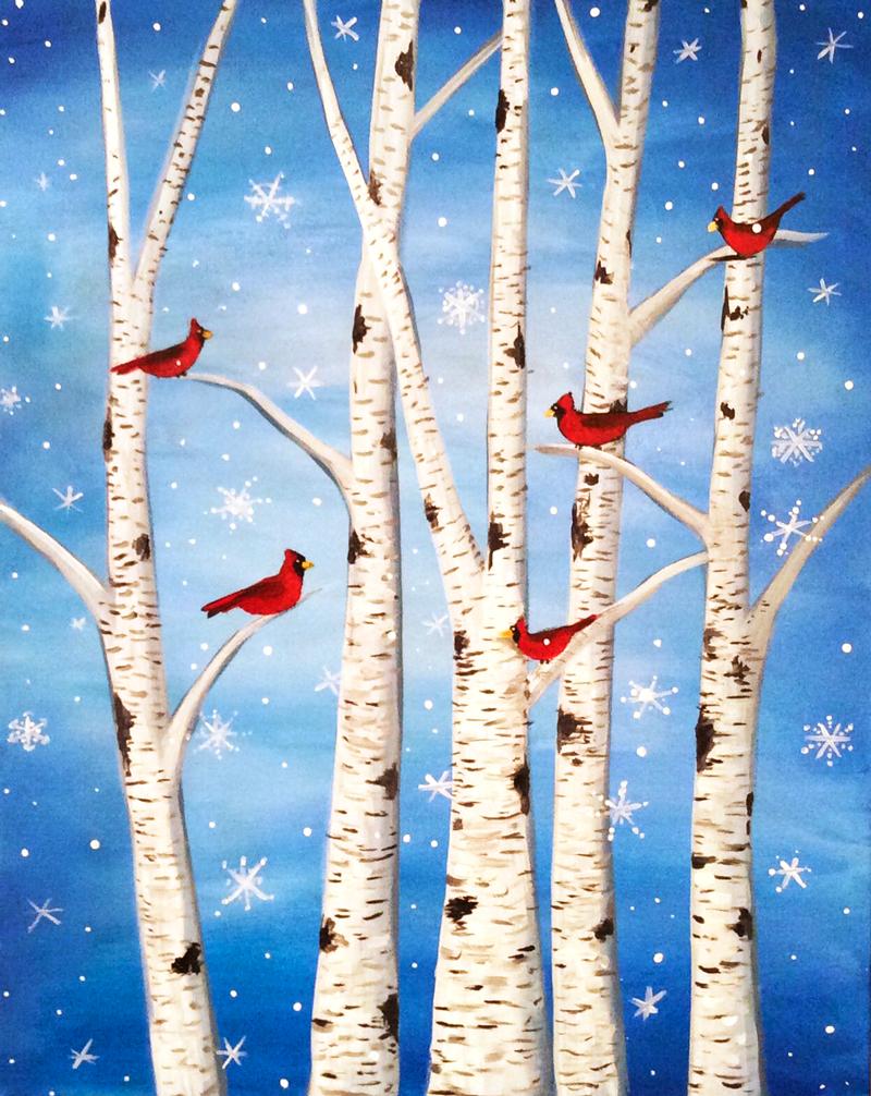 Cardinals & Snowflakes