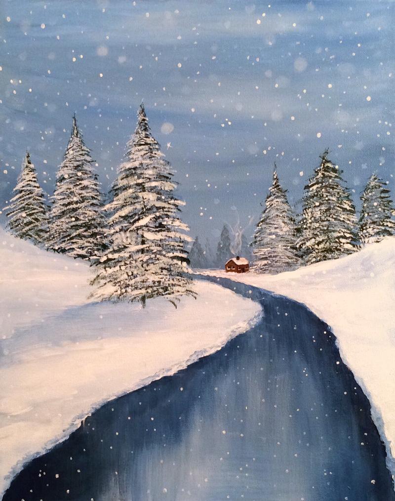 Snowy Winter Cabin