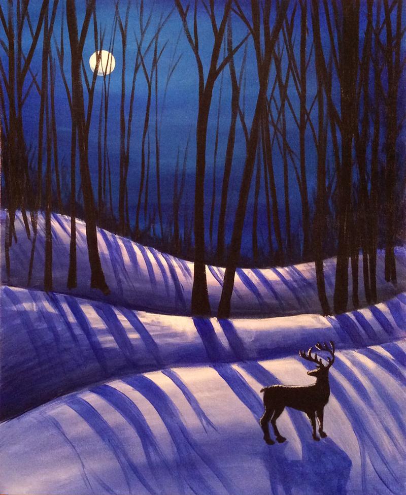 Winter Moon Shadows