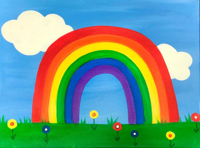 Rainbow & Flowers