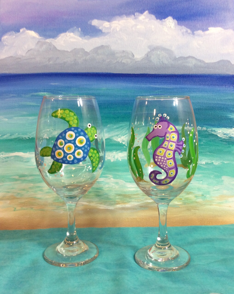 Turtle&SeahorseWineGlasses.png