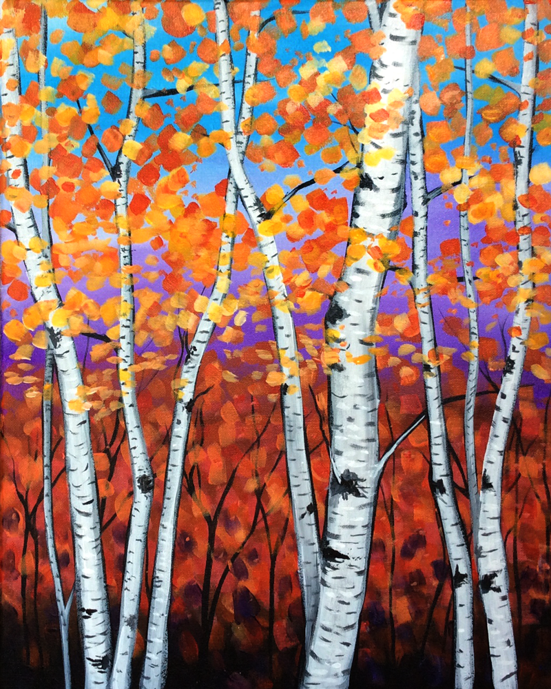 Blazing Birches