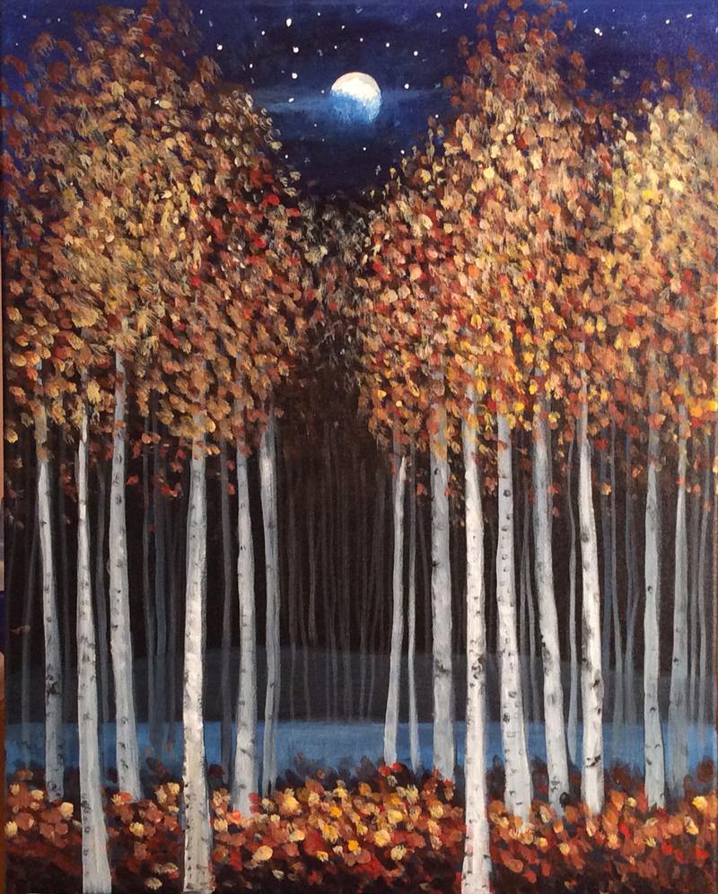 Shimmering Birches