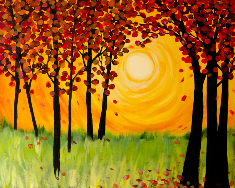 Sunshine Upon Falling Leaves
