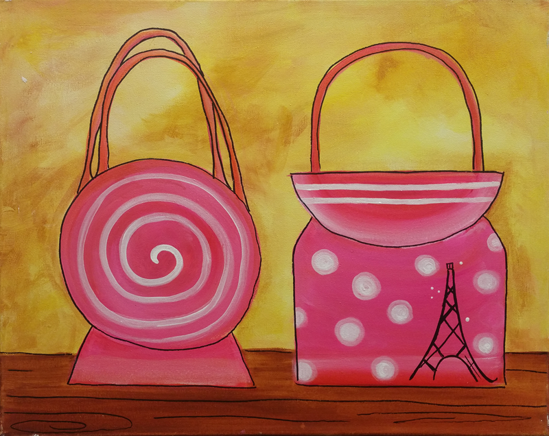 Pink Paris Purses
