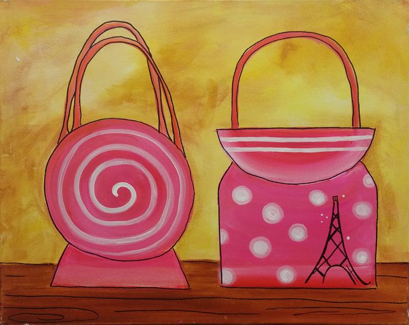 Pink Paris Purses