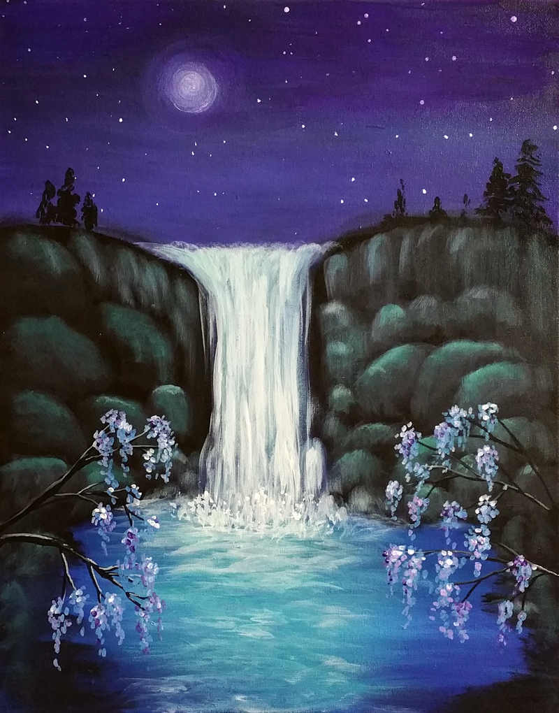 Moonlit Waterfalls
