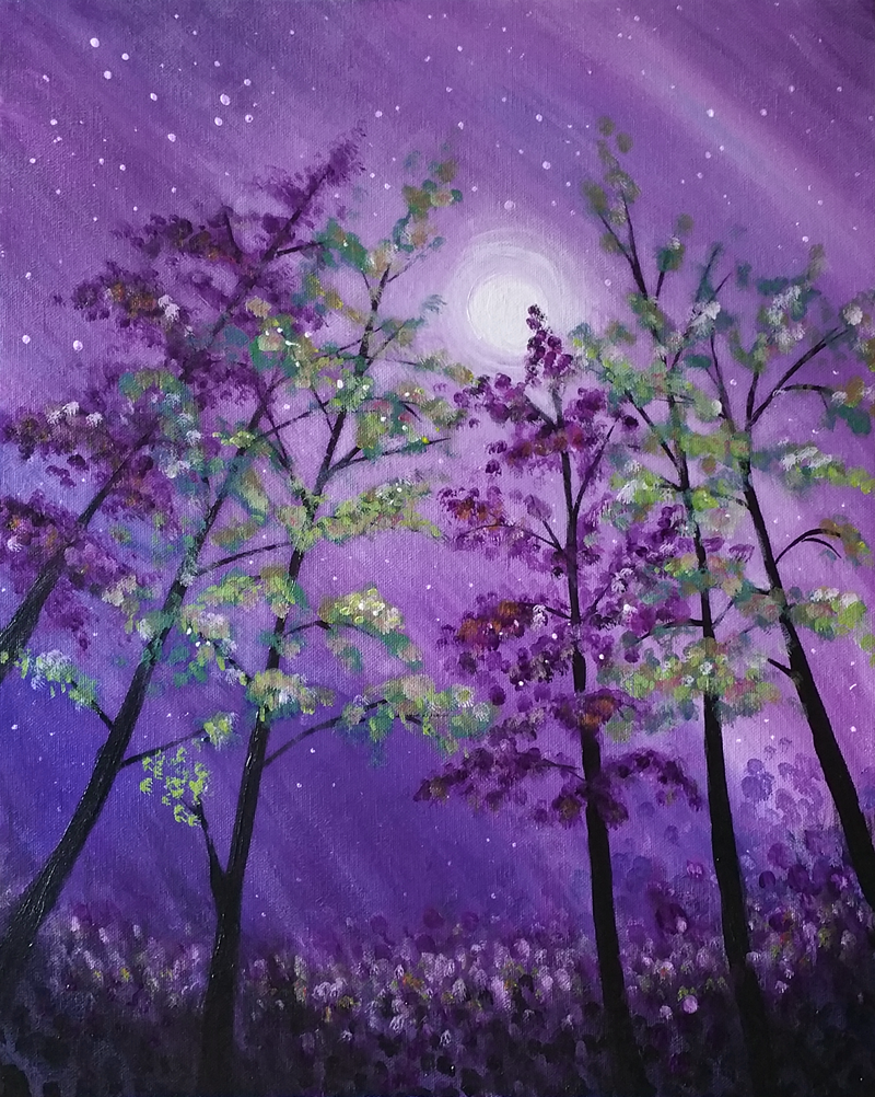 Mystic Moonlit Forest