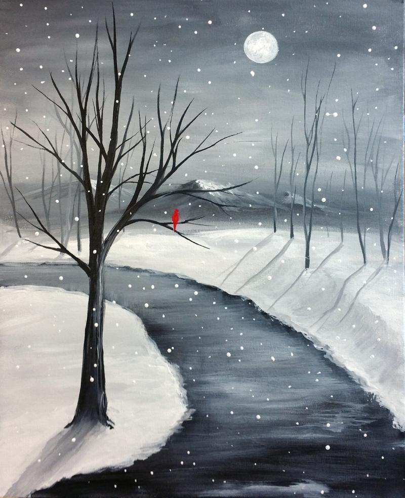 Cardinal Snowscape
