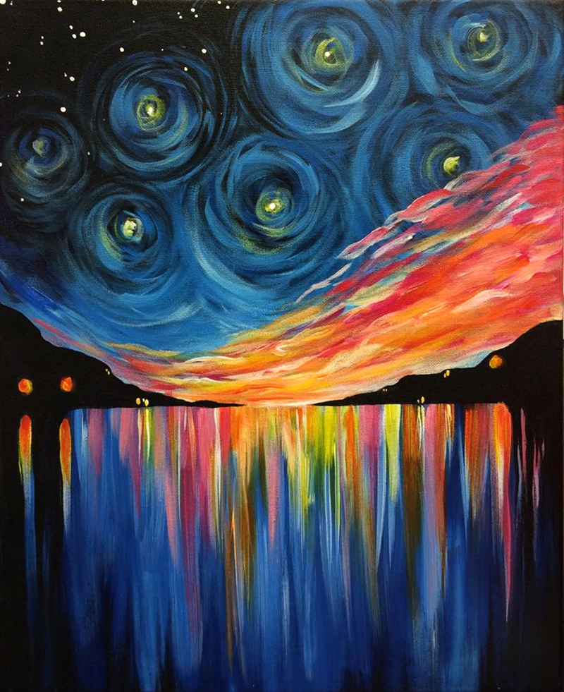 Sunset Starry Night