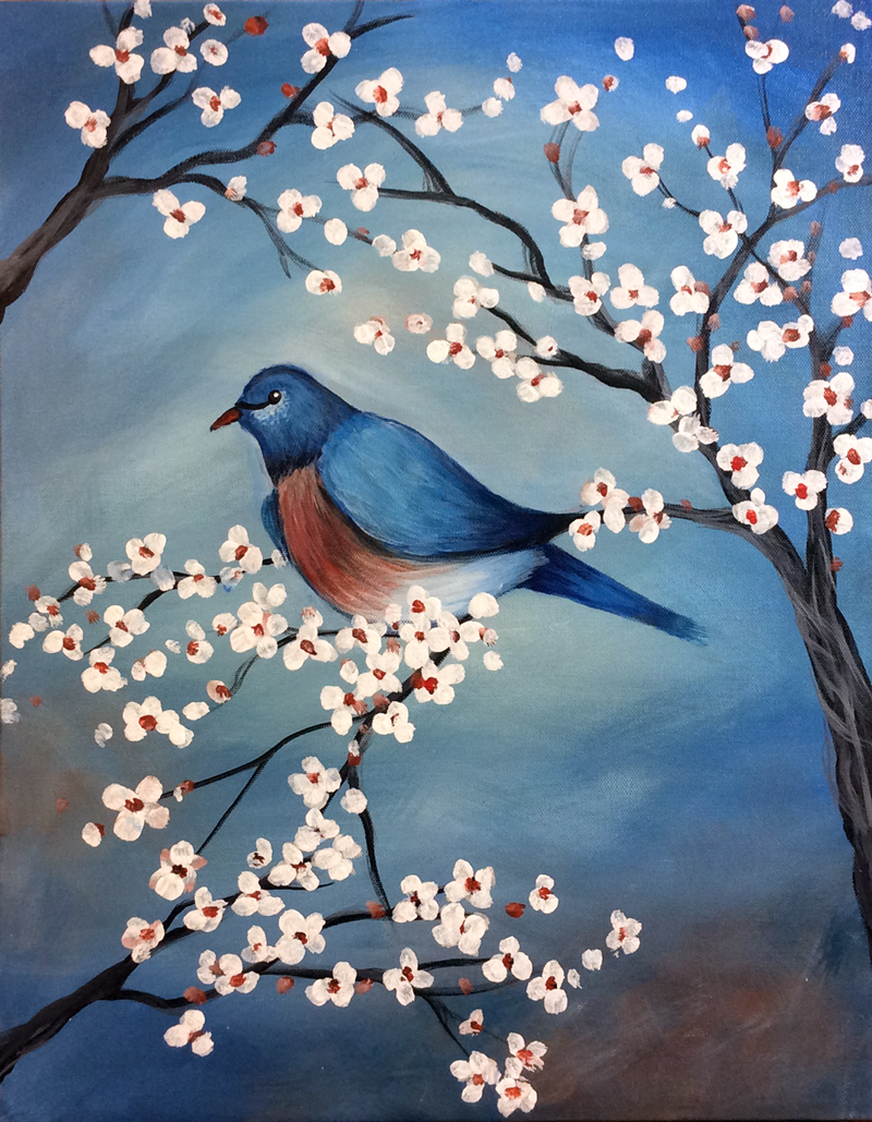 Bluebird & Blossoms