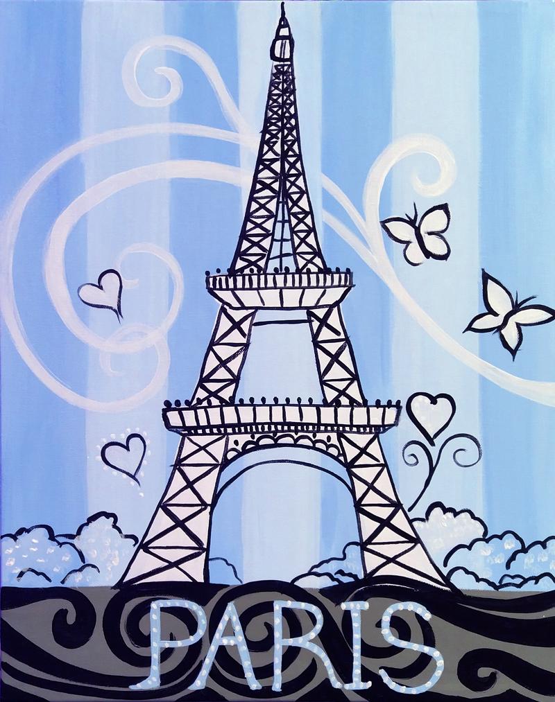 Sparkling Blue Paris