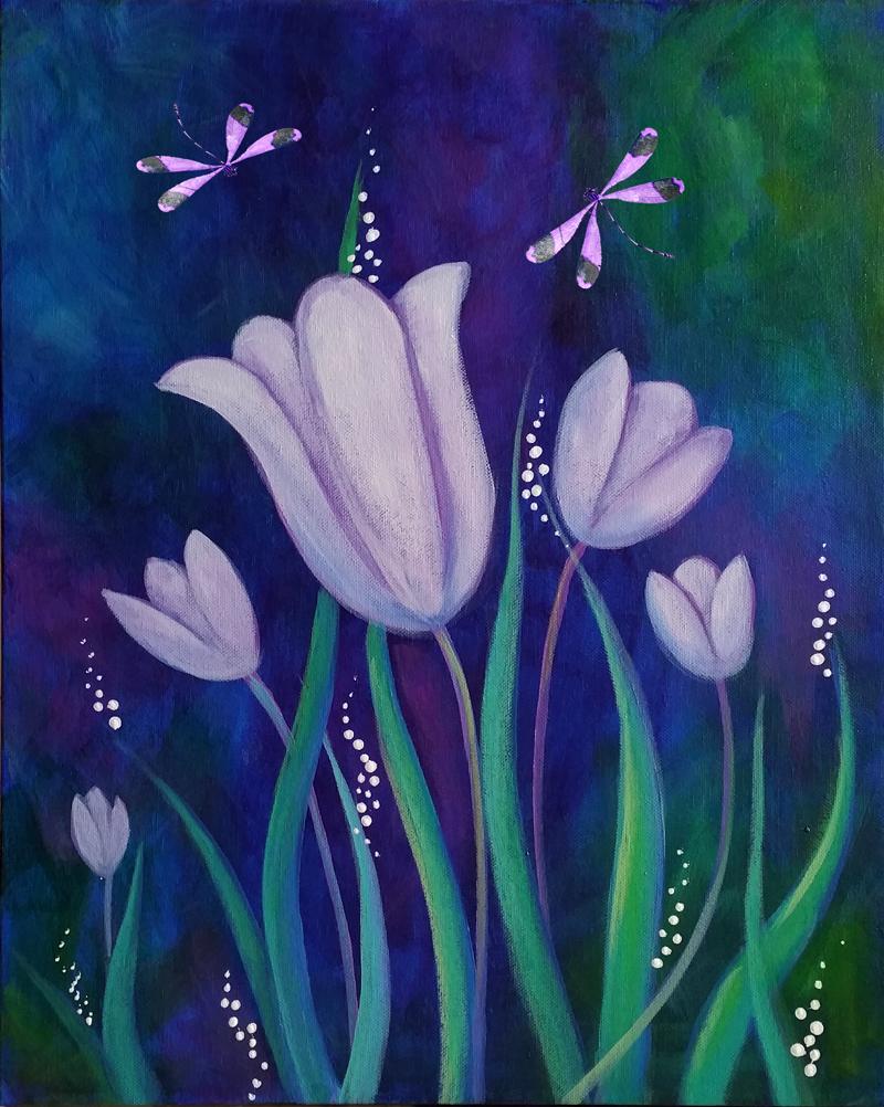 Tulips & Dragonflies