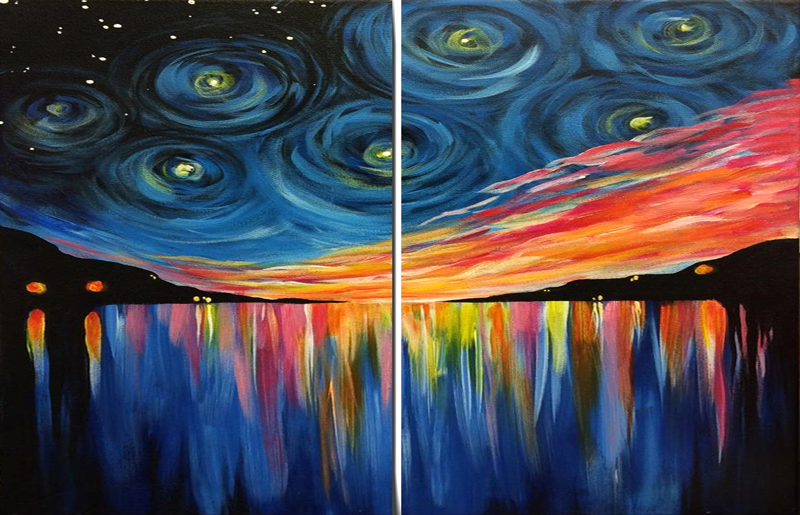 Sunset Starry Night Couples