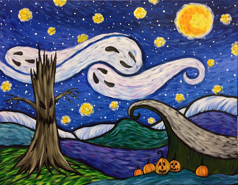 Spooky Starry Night