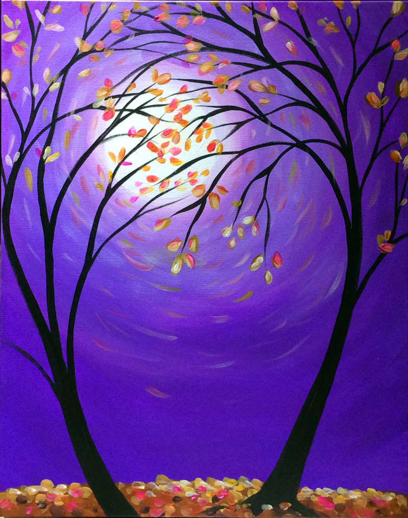 Violet Autumn Moon