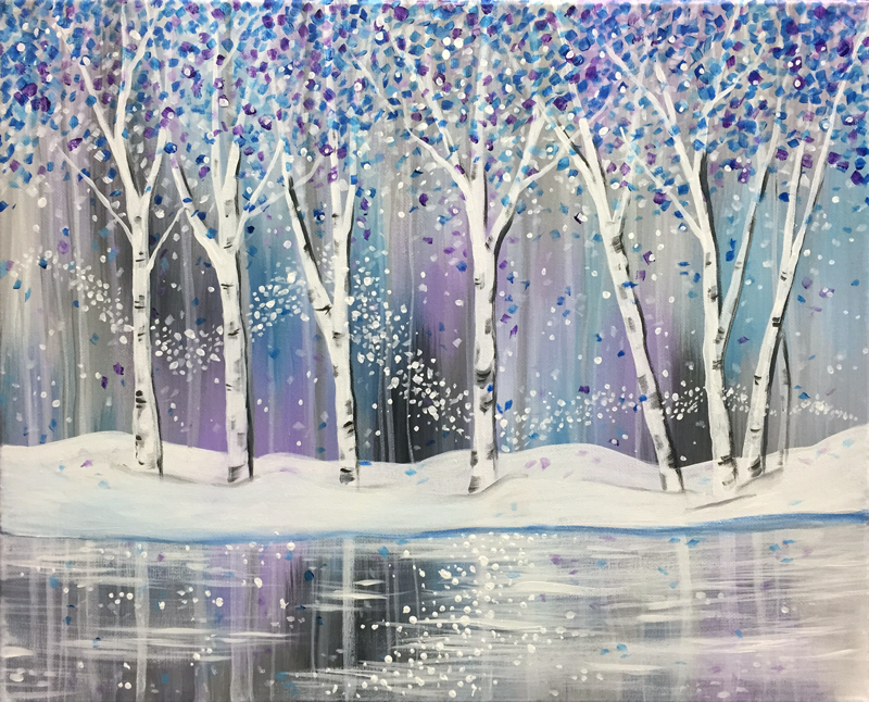Shimmering Winter Woods