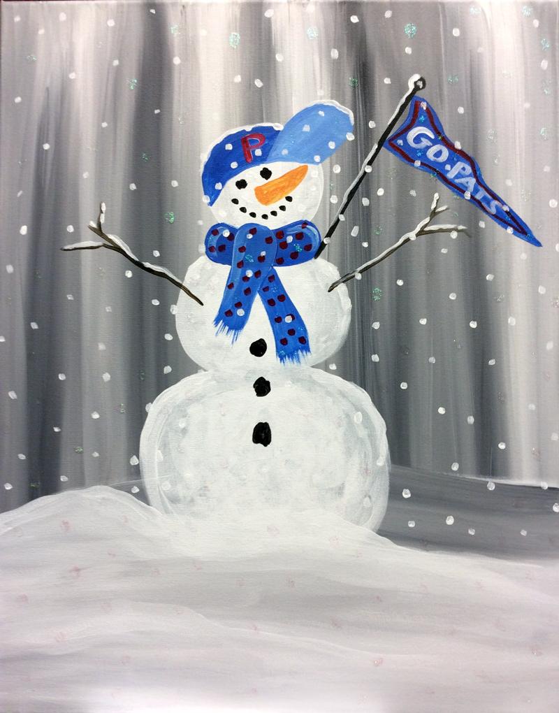 Go Pats Snowman