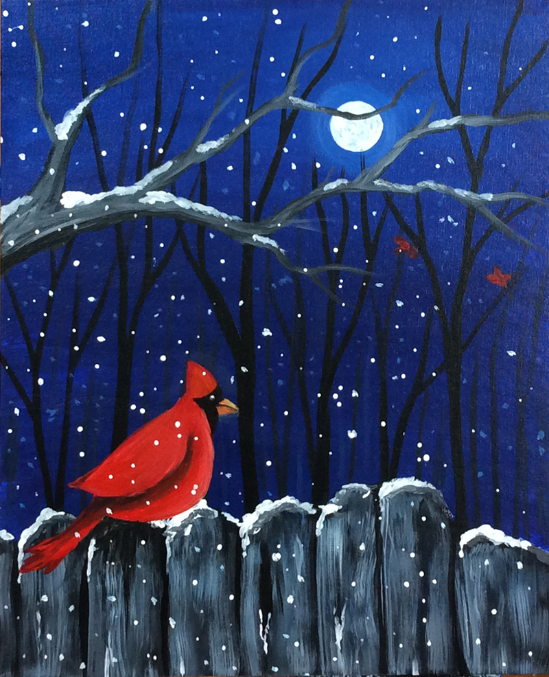 Cardinals & Moonlight