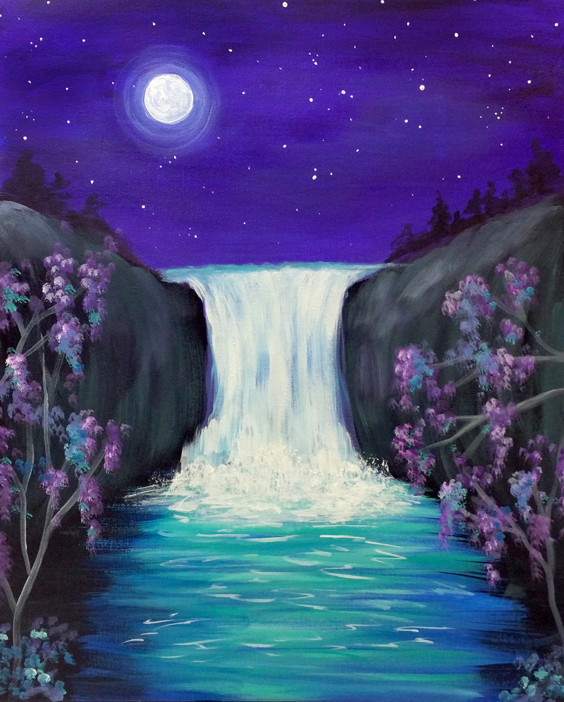 Waterfalls & Moonlight