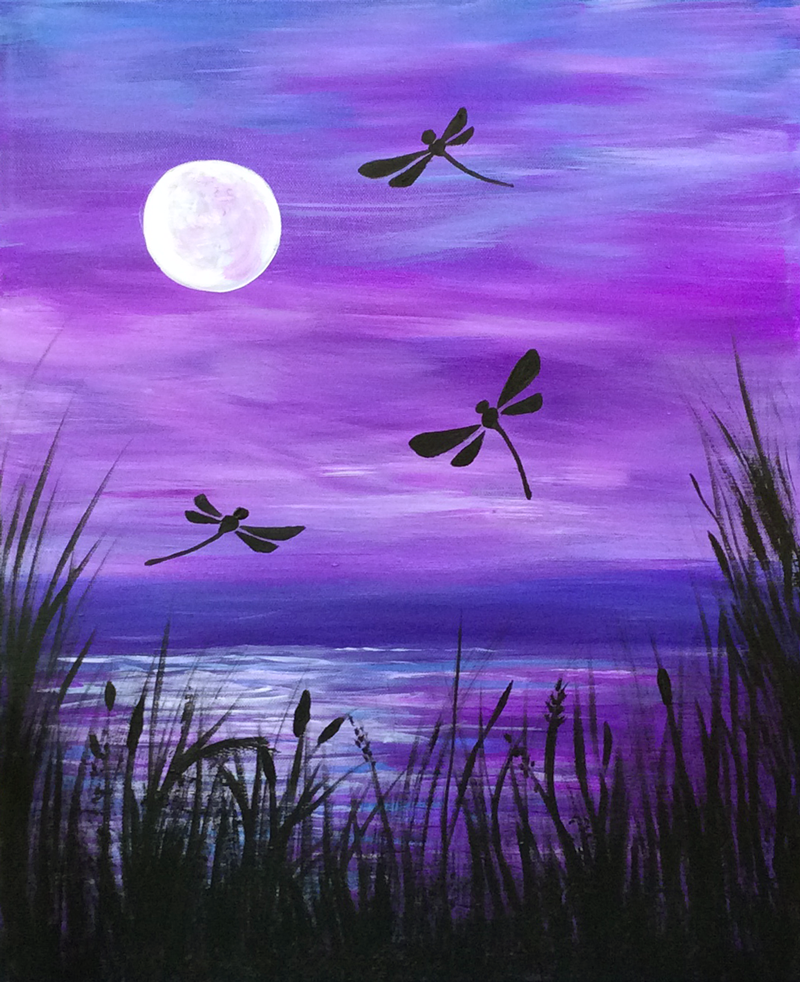 Twilight Dragonflies
