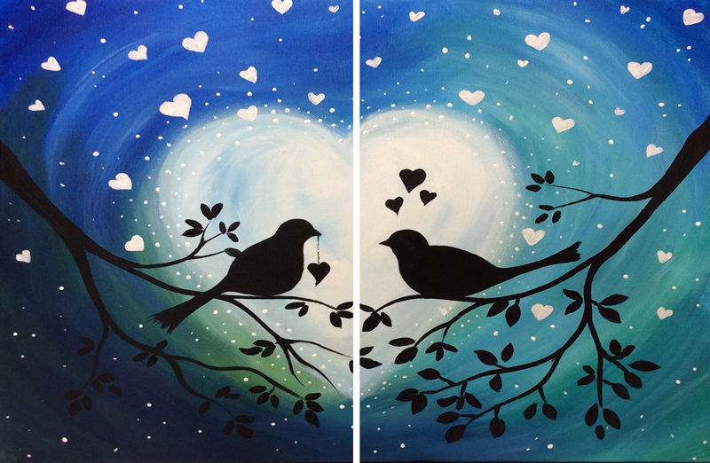 Starlit Lovebirds Couples
