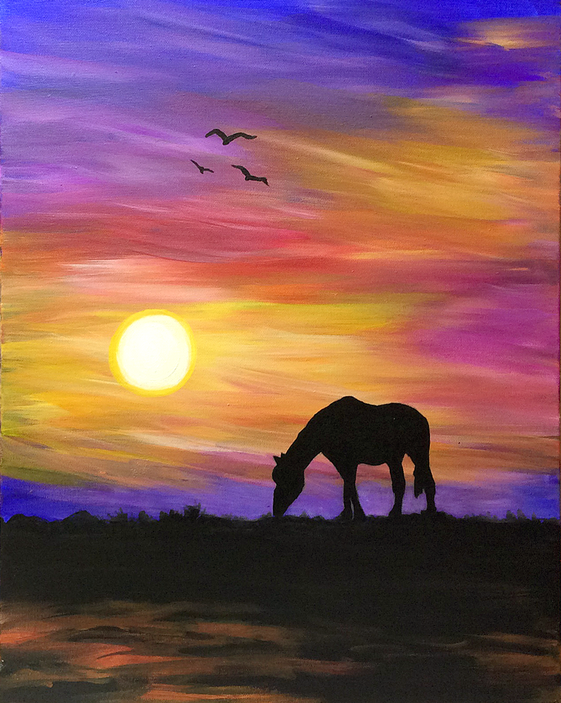 Equestrian Sunset