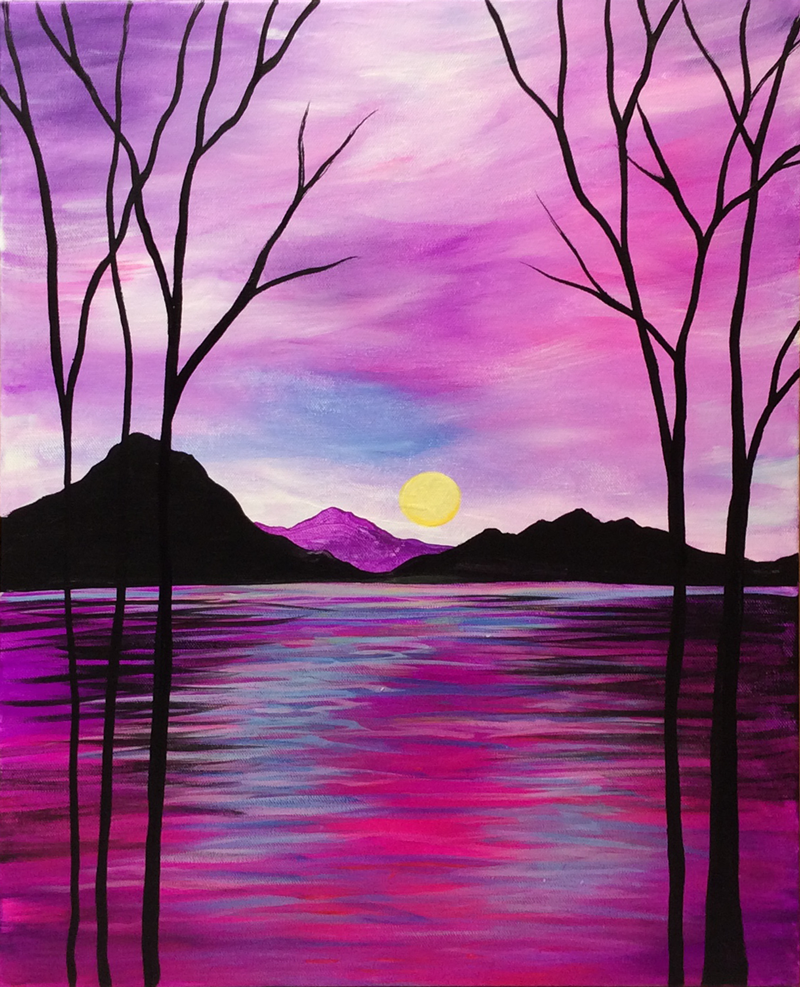 Magenta Mountain Lake