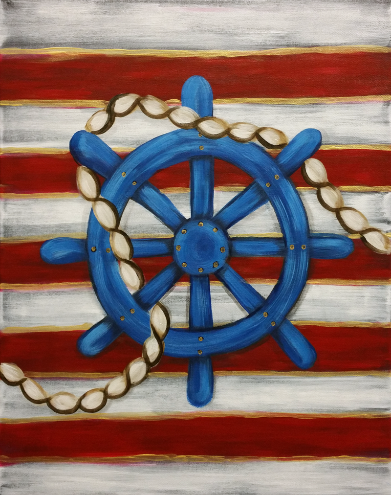 Nautical Ship's Wheel