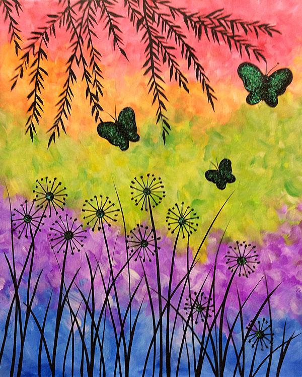 Sparkle Butterfly Garden (w/Glitter Paint)