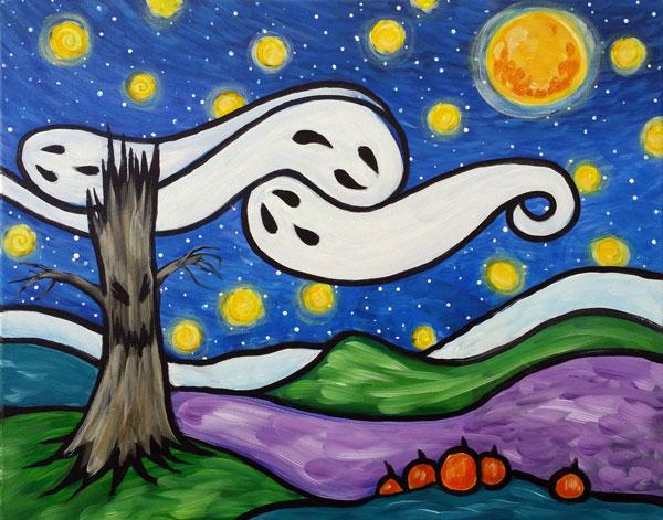 Spooky Starry Night