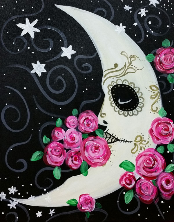 Moon Rose Sugar Skull