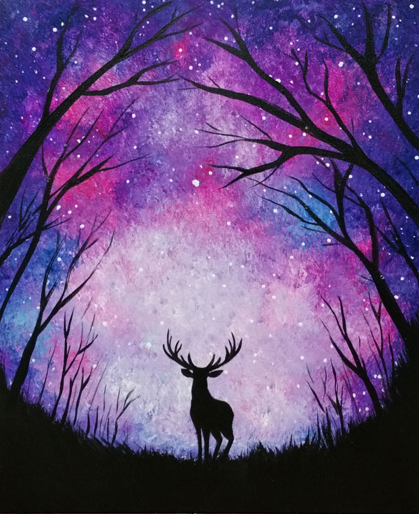 Majestic Starlit Deer