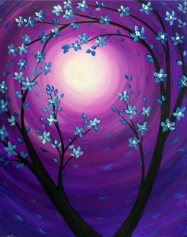 Blue Blossom Swirls