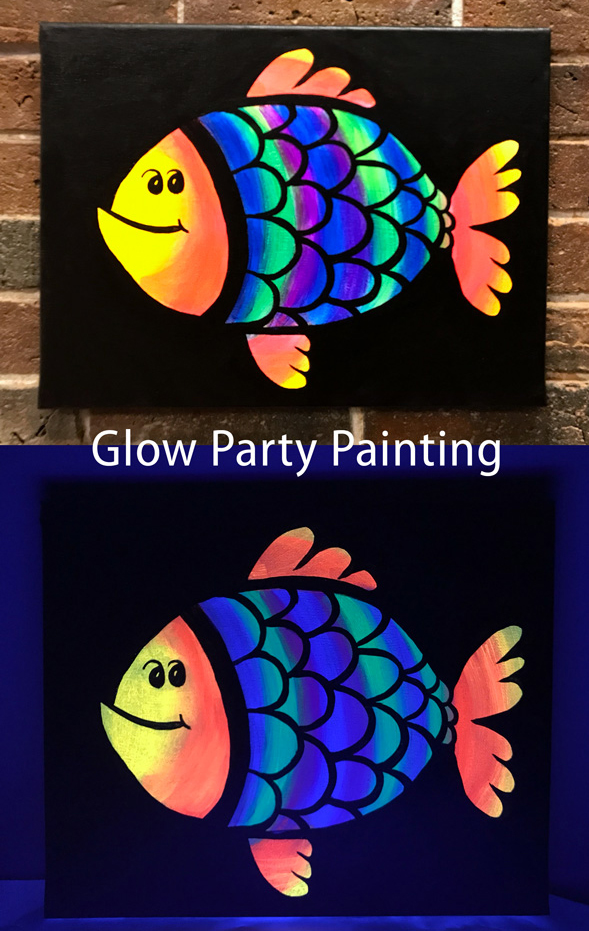Glow Fish, Glow Party Painting