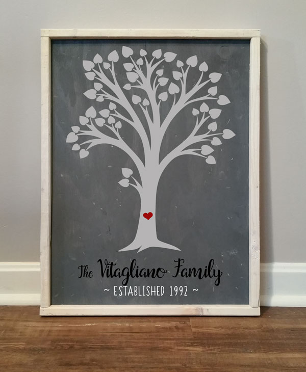 Family Tree & Heart, Personalized