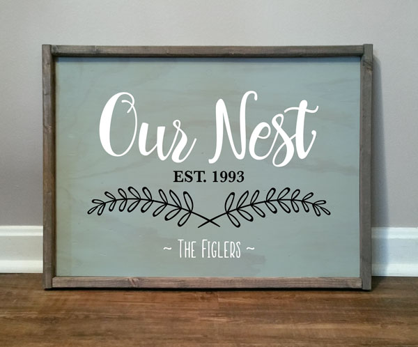 Our Nest, Figlers, Personalized